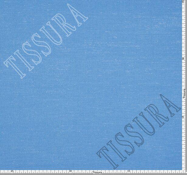 Креп шерстяной голубого оттенка #2