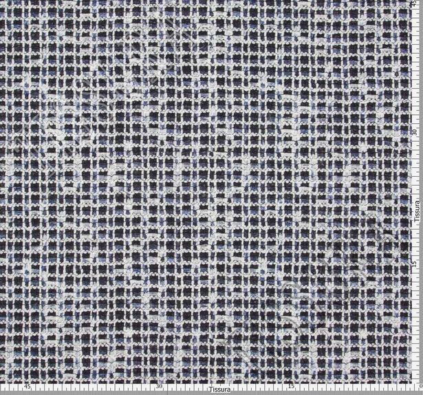 Ткань «рогожка» из фасонных нитей двусторонняя с принтом #2