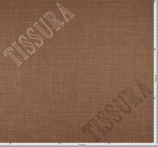 Шерстяная ткань из мериносовой шерсти, шелка и льна: цвет – коричневый #2