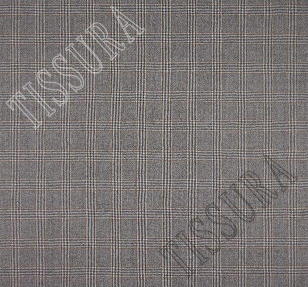 Шерсть благородного серого цвета, сочетающая клетку «Принц Уэльский» и классическую «ёлочку» #2