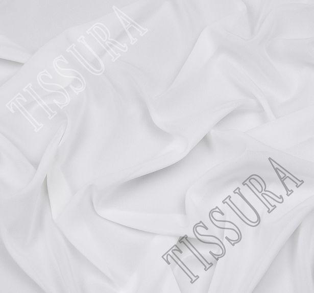 Итальянский жоржет белого оттенка из шелка с добавлением эластана #1