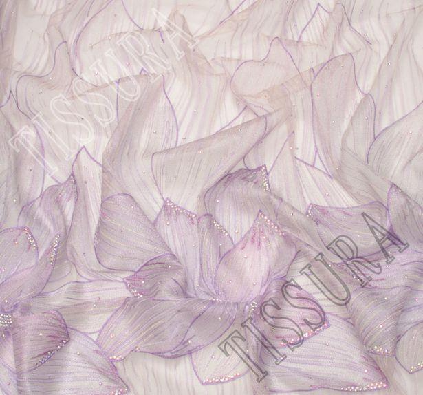 Сетка с вышивкой и кристаллами Swarovski #4