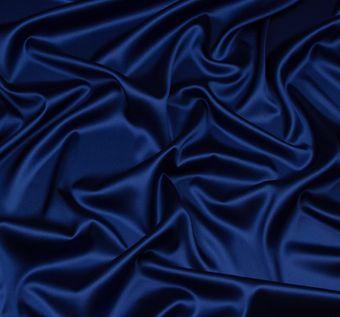 Итальянский атлас стрейч насыщенного синего оттенка из шелка с добавлением эластана #1