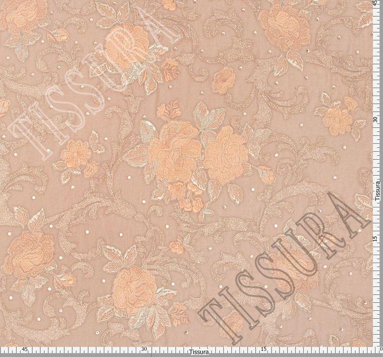 Бархат с вышивкой и кристаллами Swarovski #2