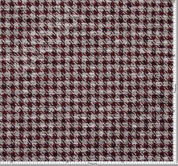 Жаккард-букле светло-серый с узором гусиная лапка #2