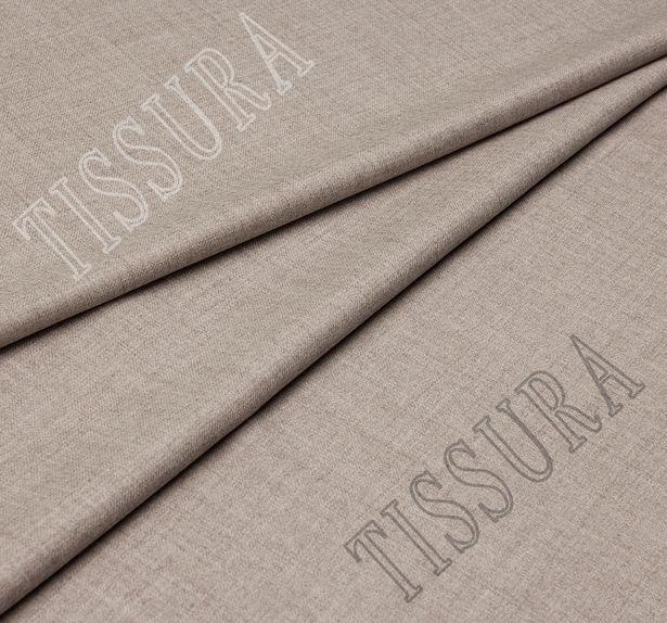 Костюмная ткань из шерсти 686002 Pecora Nera® серо-бежевая #1