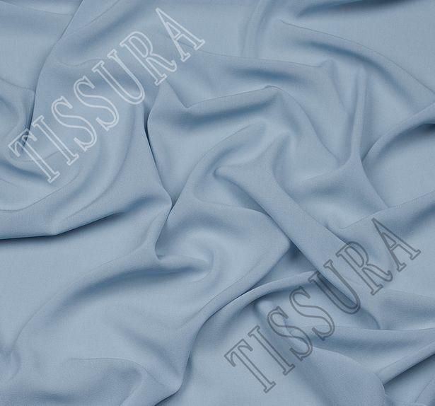 Итальянский жоржет серо-голубого оттенка из шелка с добавлением эластана #1