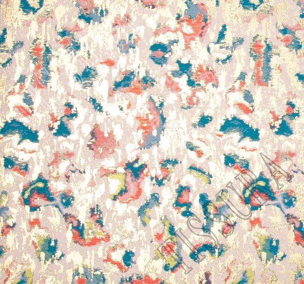 Жаккард розового оттенка с абстрактным рисунком #3
