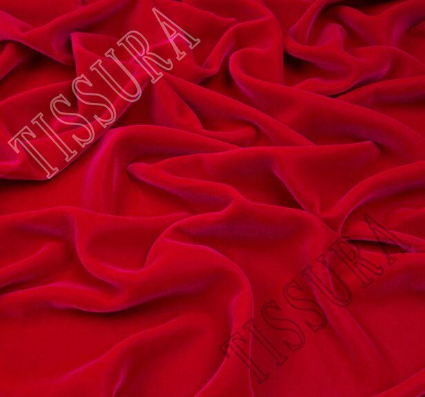 Французский шелковый бархат «Империя» цвета «фуксия» #1