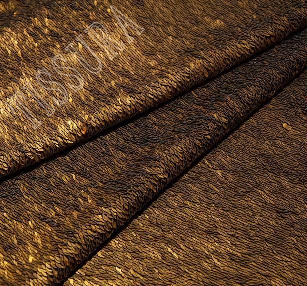 Шерстяное полотно с пайетками #1