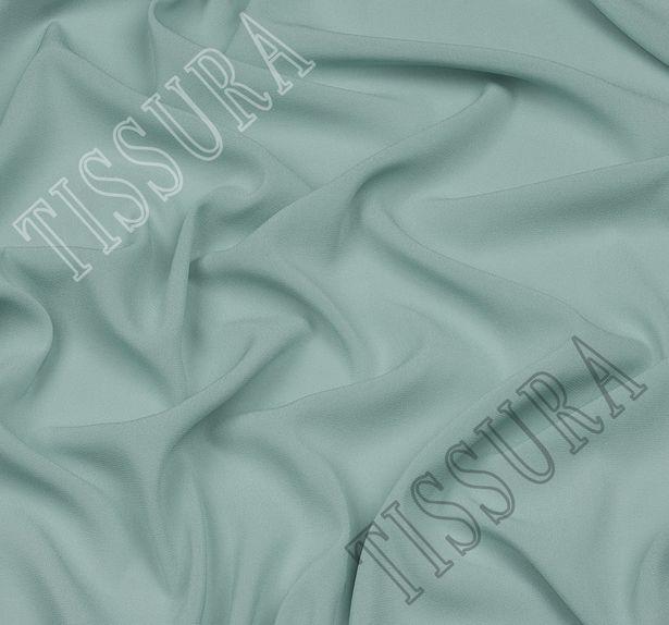 Итальянский жоржет мятного оттенка из шелка с добавлением эластана #1