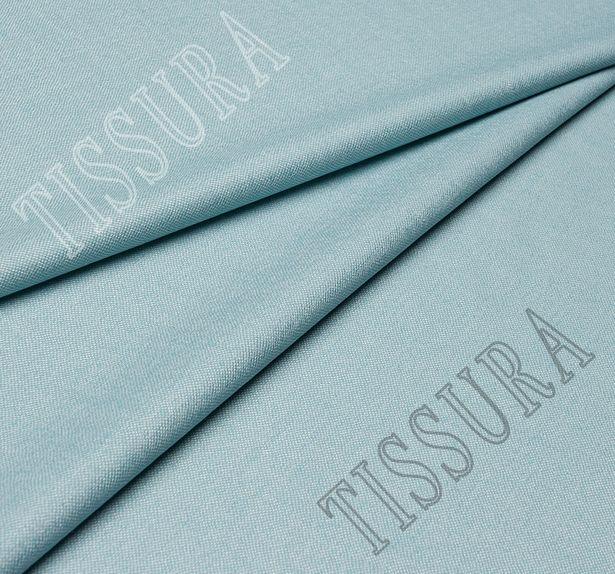 Костюмная ткань из шерсти с добавлением шелка голубого оттенка #1