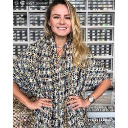 Repost from @katya_gousset Я тут себе в @tissura ткань haute couture присмотрела с той же фабрики, где Chanel  заказывает, хочу шить твидовое пальто! Цепь для отделки выбрала не самую большую, а то будет перебор.