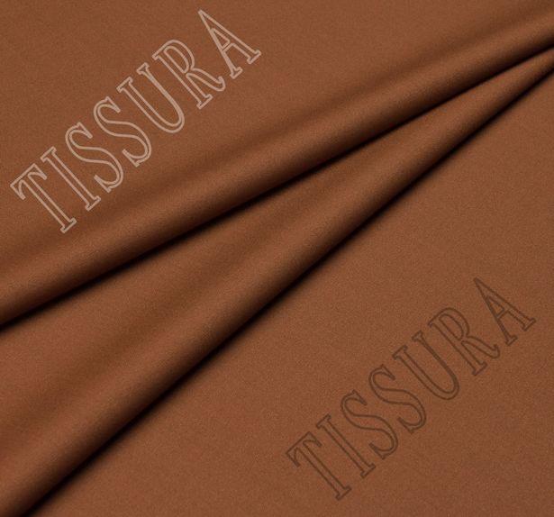 Шерстяная ткань светло-коричневого цвета из высококачественной шерсти новозеландского мериноса #1