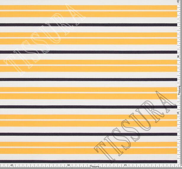 Жаккард белый в желтую и черную полоску #2