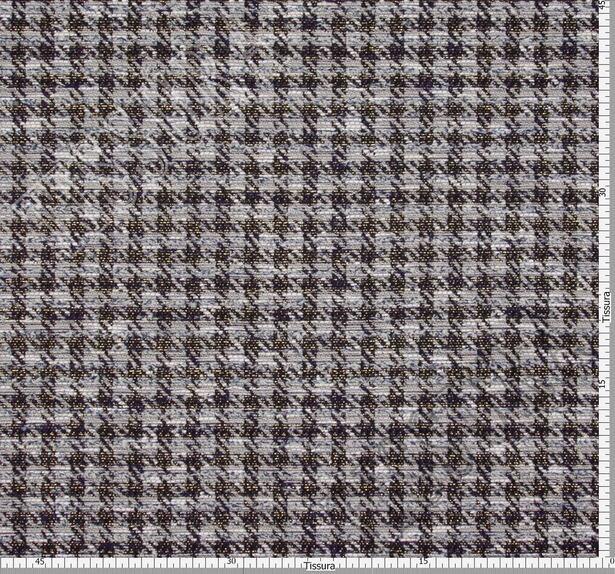 Жаккард-букле серый в клетку #2