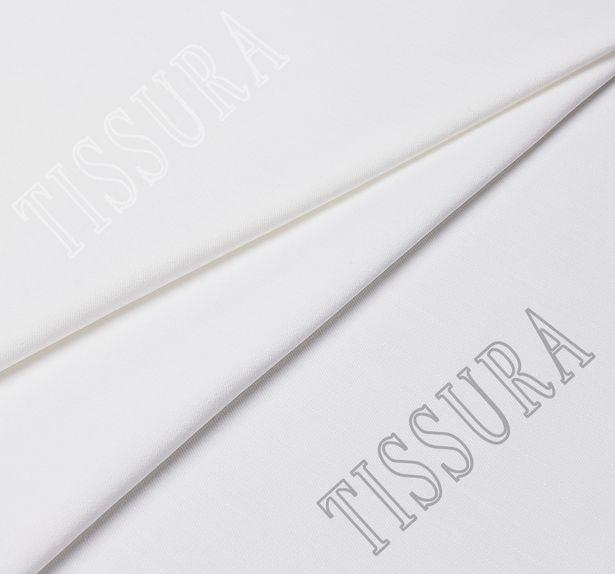 Итальянский деним белого цвета облегченный с эластаном #1