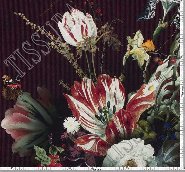 Крепдешин с цветочным принтом #2