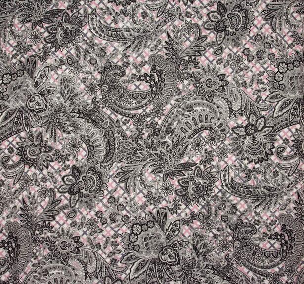 Жаккард из шерсти и шелка с разными узорами #3