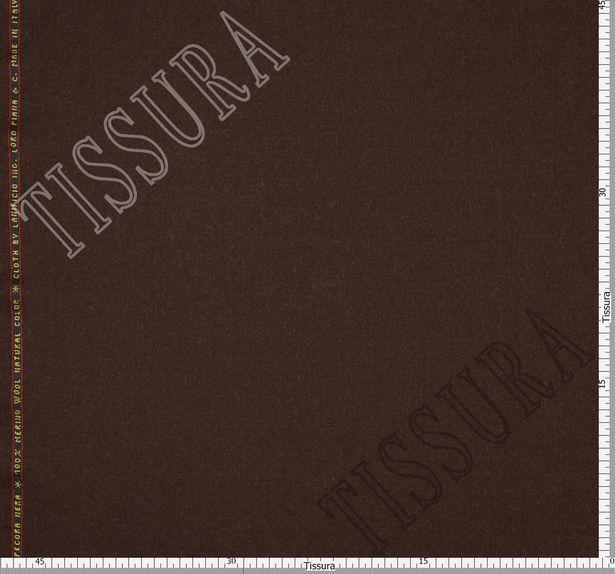 Костюмная ткань из шерсти 686001 Pecora Nera® темно-коричневая #2