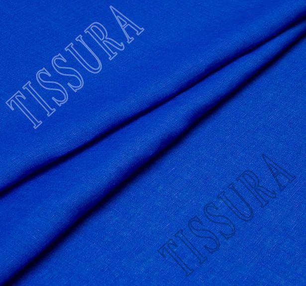 Лен, одна сторона ткани синего цвета, другая – бирюзового #3