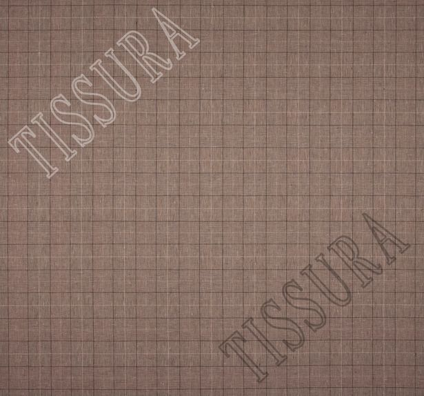 Лён, клетка «Принц Уэльский», выполнена в различных оттенках коричневого цвета #2