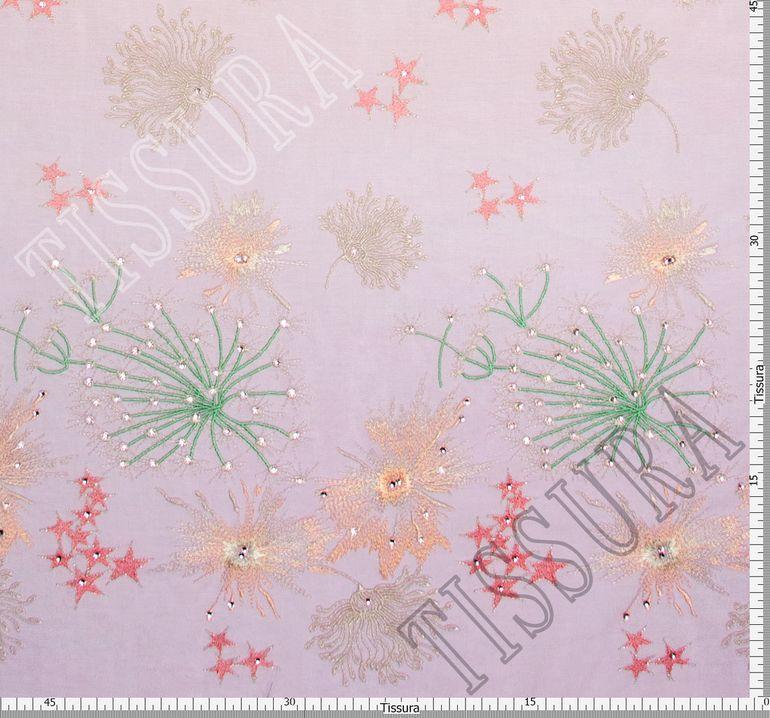 Сетка с вышивкой и кристаллами  #2