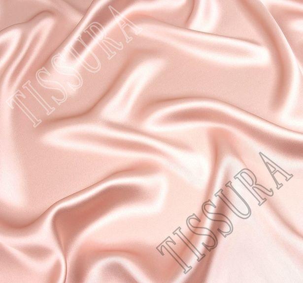 Шелковый атлас нежно-розового оттенка #1