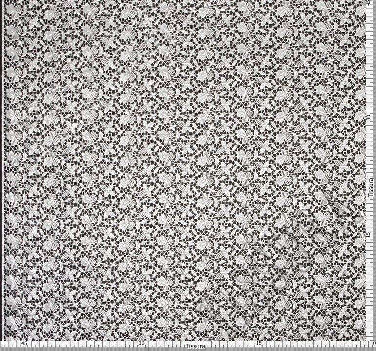 Гипюровое кружево с металлизированной нитью #2