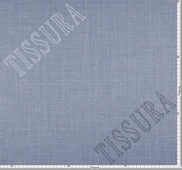 Шерсть-стрейч из тончайшей мериносовой шерсти, шелка и льна: цвет – серо-голубой #2