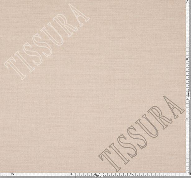 Пальтовая ткань двусторонняя молочного цвета и светло-коричневого цвета #2