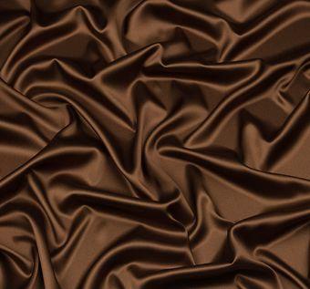 Итальянский атлас стрейч коричневого оттенка из шелка с добавлением эластана #1