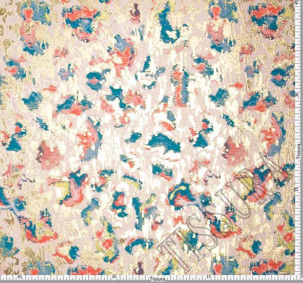 Жаккард розового оттенка с абстрактным рисунком #2