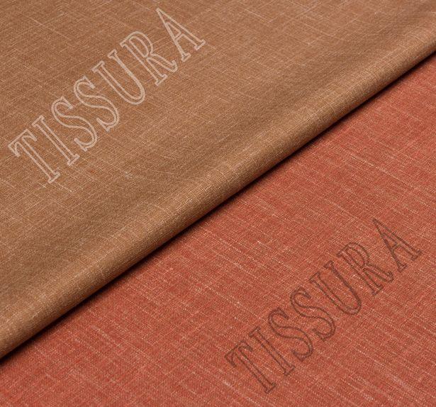 Двусторонняя шерсть из мериносовой шерсти, шелка и льна терракотового цвета #1