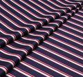 Твил-люкс в полоску из 100% хлопка – белые и красные вертикальные полосы на темно-синем фоне #1