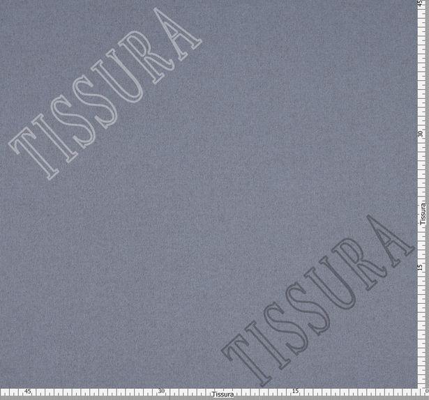 Пальтовая ткань двусторонняя серо-голубого и бежевого цвета #2