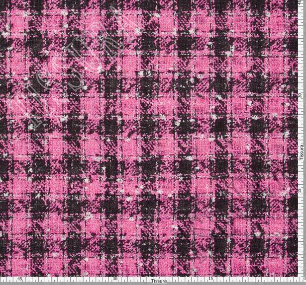 Ткань «рогожка» из фасонных нитей двусторонняя с принтом #3