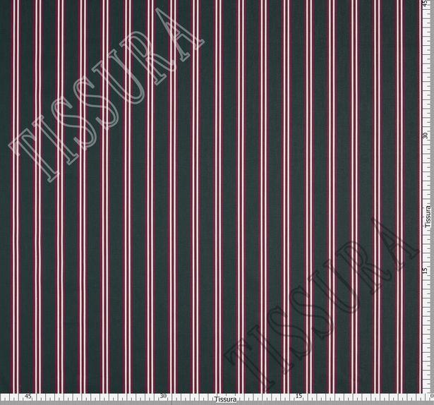 Твил из 100% хлопка высочайшего качества – яркая бордово-белая полоска на темно-сером фоне #2