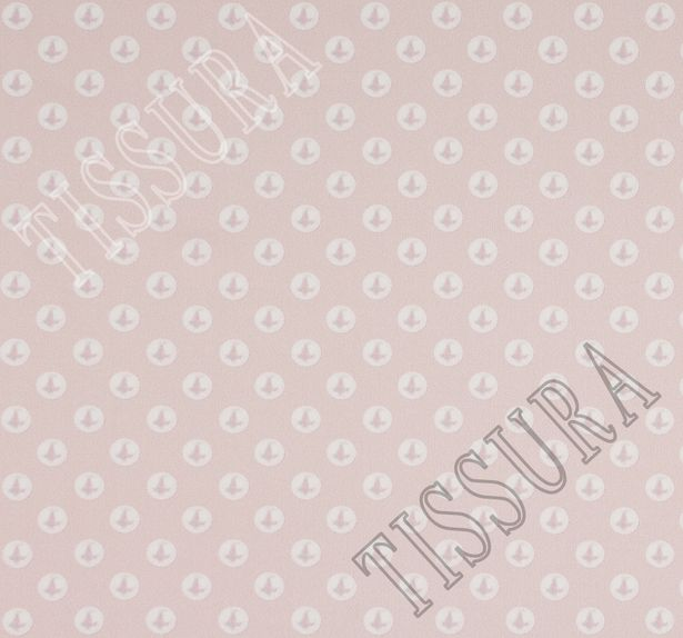 Атлас стрейч с жемчужинами на пудрово-розовом фоне #2