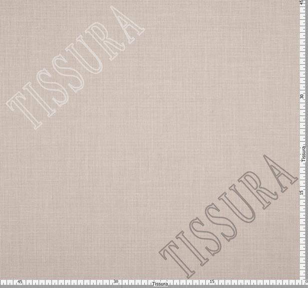 Двусторонняя шерсть из мериносовой шерсти, шелка и льна бежево-серая клетка #3