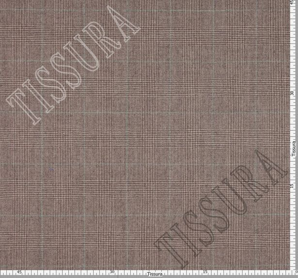 Шерсть коричневого цвета, украшенная знаменитой клеткой «Принц Уэльский» #3