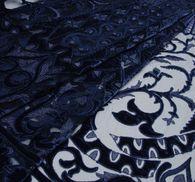 Сетка с вышивкой и бархатными вставками #1