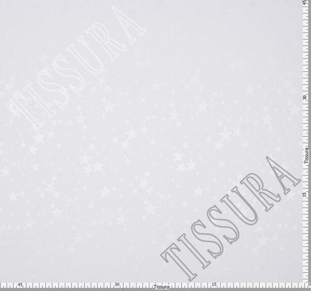 Жаккард шелковый молочного оттенка со звездами #2