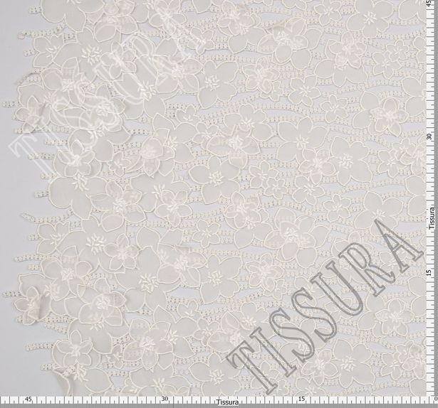 Ткань с цветочной аппликацией из органзы #2