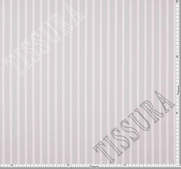 Сатин из хлопка с добавлением эластана, украшенная белыми и серыми полосами #3