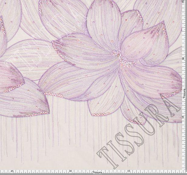 Сетка с вышивкой и кристаллами Swarovski #2