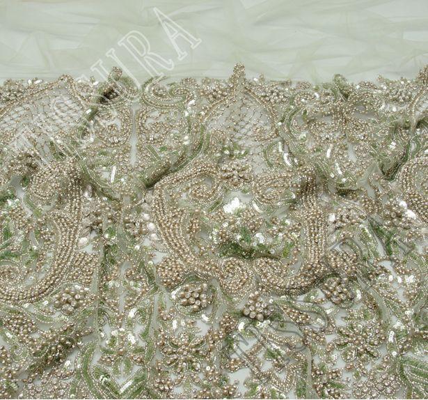 Сетка с бисером и кристаллами #4