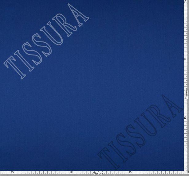 Итальянский атлас стрейч насыщенного синего оттенка из шелка с добавлением эластана #2